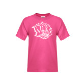 Youth Fuchsia T Shirt-Golden Lion Head