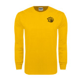 Gold Long Sleeve T Shirt-Golden Lion Head