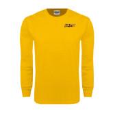 Gold Long Sleeve T Shirt-UAPB Word Mark