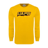 Gold Long Sleeve T Shirt-UAPB Word Mark