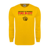Gold Long Sleeve T Shirt-University of Arkansas Pine Bluff Golden Lions