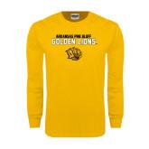 Gold Long Sleeve T Shirt-Arkansas Pine Bluff Golden Lions