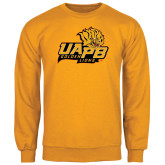 Gold Fleece Crew-UAPB Lion Head Stacked