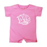 Bubble Gum Pink Infant Romper-Golden Lion Head
