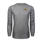 Grey Long Sleeve T Shirt-UAPB Word Mark