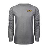 Grey Long Sleeve T Shirt-UAPB Word Mark
