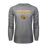 Grey Long Sleeve T Shirt-University of Arkansas Pine Bluff Golden Lions