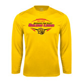 Performance Gold Longsleeve Shirt-Golden Lions Football in Ball