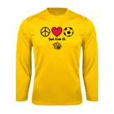 Syntrel Performance Gold Longsleeve Shirt-Soccer Just Kick It