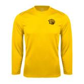 Performance Gold Longsleeve Shirt-Golden Lion Head