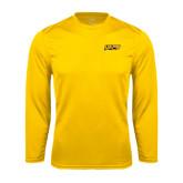 Performance Gold Longsleeve Shirt-UAPB Word Mark