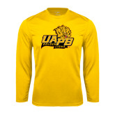 Syntrel Performance Gold Longsleeve Shirt-UAPB Lion Head Stacked