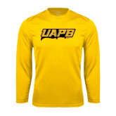 Syntrel Performance Gold Longsleeve Shirt-UAPB Word Mark