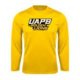 Syntrel Performance Gold Longsleeve Shirt-UAPB Golden Lions Stacked