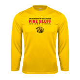 Syntrel Performance Gold Longsleeve Shirt-University of Arkansas Pine Bluff Golden Lions