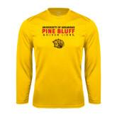 Performance Gold Longsleeve Shirt-University of Arkansas Pine Bluff Golden Lions