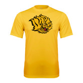 Syntrel Performance Gold Tee-Golden Lion Head