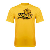 Syntrel Performance Gold Tee-UAPB Lion Head Stacked