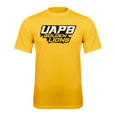 Syntrel Performance Gold Tee-UAPB Golden Lions Stacked