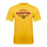 Syntrel Performance Gold Tee-Golden Lions Football in Ball