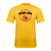Syntrel Performance Gold Tee-Basketball  Arched w/ Ball