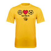 Syntrel Performance Gold Tee-Soccer Just Kick It