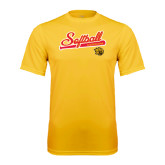 Syntrel Performance Gold Tee-Softball Script