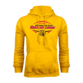 Gold Fleece Hoodie-Golden Lions Football in Ball