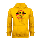 Gold Fleece Hoodie-Basketball  Arched w/ Ball