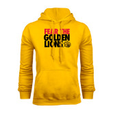Gold Fleece Hoodie-Fear The Golden Lions