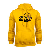 Gold Fleece Hoodie-UAPB Lion Head Stacked