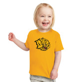 Toddler Gold T Shirt-Golden Lion Head