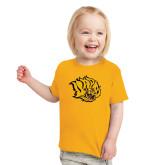 Toddler Gold T Shirt-Golden Lion Head
