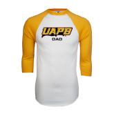 White/Gold Raglan Baseball T-Shirt-Dad