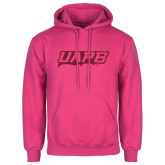 Fuchsia Fleece Hoodie-UAPB Word Mark Hot Pink Glitter
