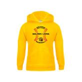 Youth Gold Fleece Hoodie-Baseball Circle w/ Seams