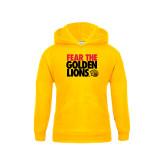 Youth Gold Fleece Hood-Fear The Golden Lions