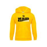 Youth Gold Fleece Hood-We Bleed Black & Gold