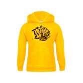 Youth Gold Fleece Hood-Golden Lion Head
