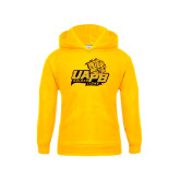 Youth Gold Fleece Hood-UAPB Lion Head Stacked