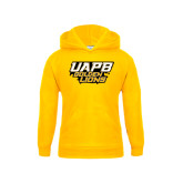 Youth Gold Fleece Hood-UAPB Golden Lions Stacked