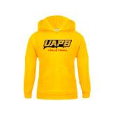 Youth Gold Fleece Hood-Volleyball