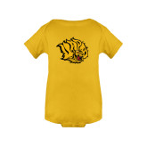 Gold Infant Onesie-Golden Lion Head