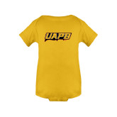 Gold Infant Onesie-UAPB Word Mark