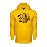 Under Armour Gold Performance Sweats Team Hoodie-Golden Lion Head