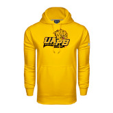 Under Armour Gold Performance Sweats Team Hoodie-UAPB Lion Head Stacked
