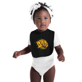 Black Baby Bib-Golden Lion Head