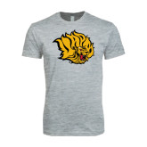 Next Level SoftStyle Heather Grey T Shirt-Golden Lion Head