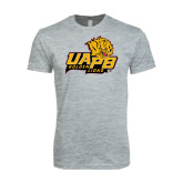 Next Level SoftStyle Heather Grey T Shirt-UAPB Lion Head Stacked