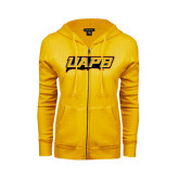 ENZA Ladies Gold Fleece Full Zip Hoodie-UAPB Word Mark
